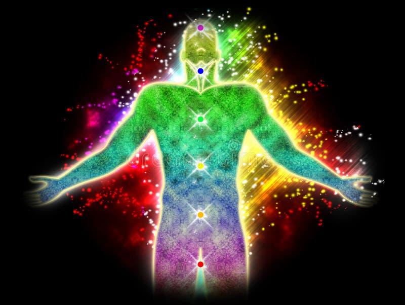 Energía espiritual stock de ilustración