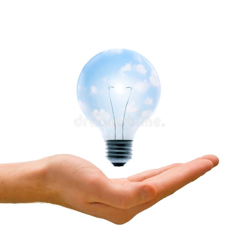 Energía limpia en nuestras manos foto de archivo libre de regalías