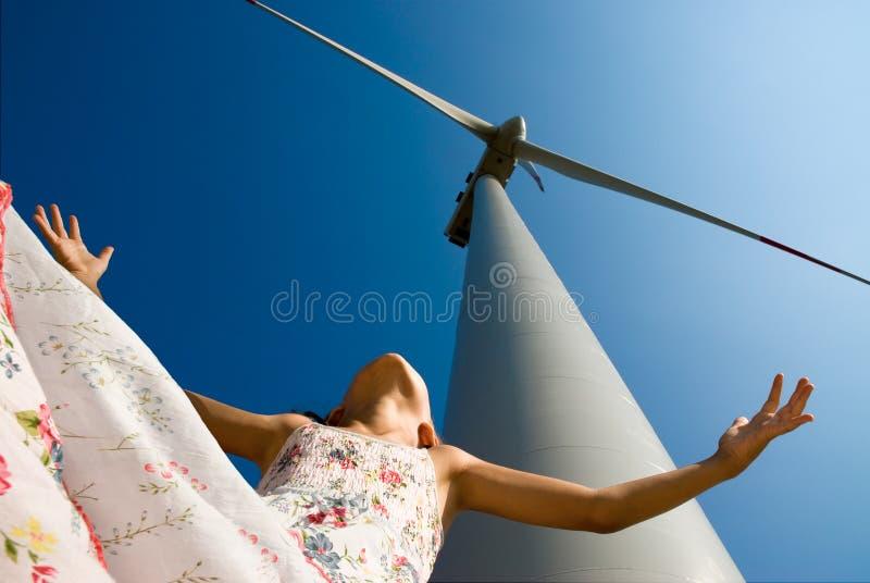 Energía limpia para los niños futuros imagen de archivo libre de regalías