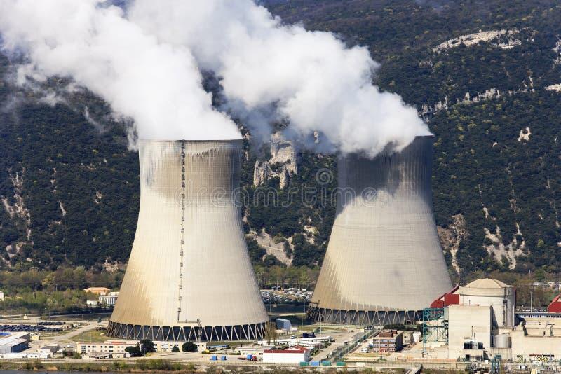 Energía nuclear foto de archivo