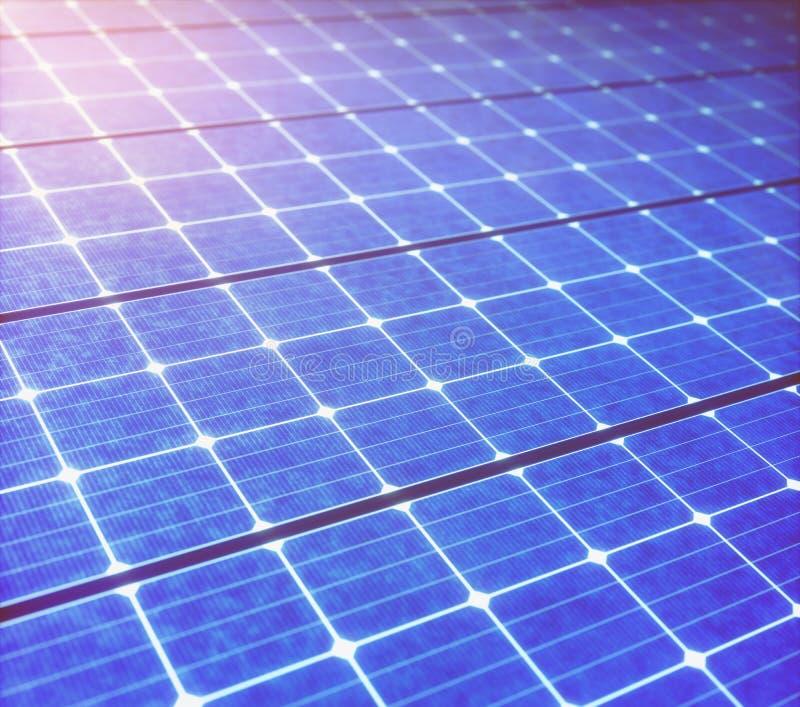 Energía renovable ecológica del panel solar stock de ilustración
