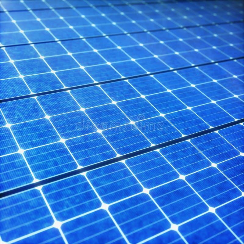 Energía renovable ecológica del panel solar ilustración del vector