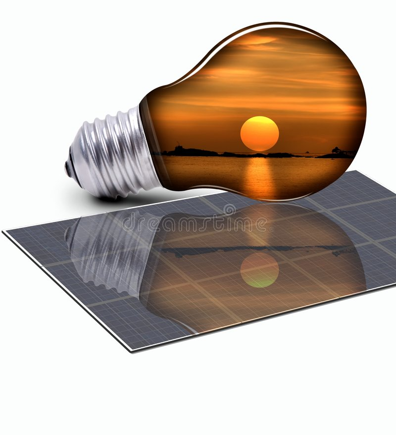 Energía renovable para la protección del planeta foto de archivo libre de regalías