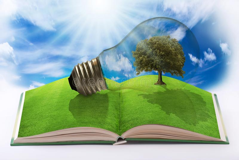 Energía renovable para un mundo limpio libre illustration