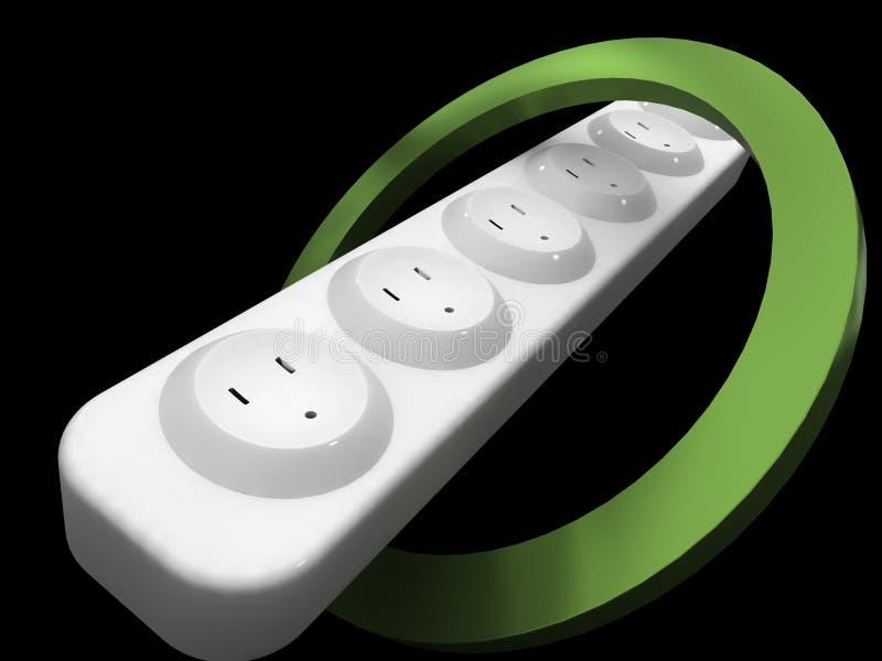 Energía verde de un tomacorriente para servicio extendido libre illustration