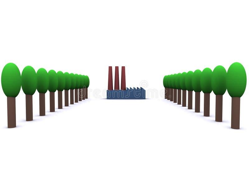 Energía y ambiente ilustración del vector