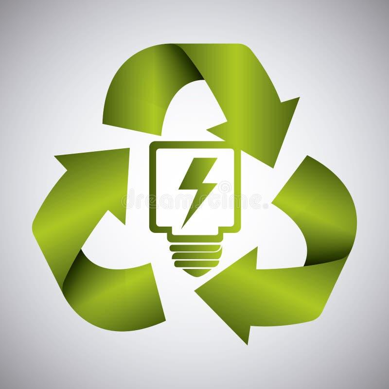 Energía y ecología verdes stock de ilustración