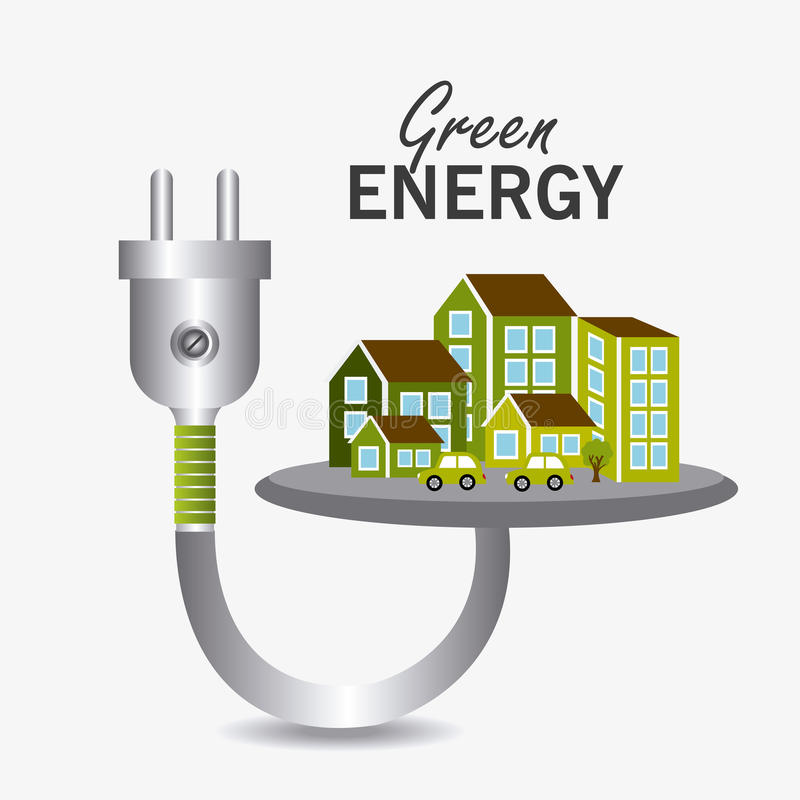 Energía y ecología verdes libre illustration