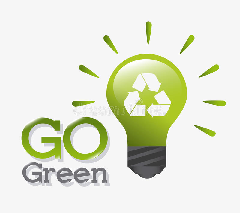 Energía y ecología verdes ilustración del vector