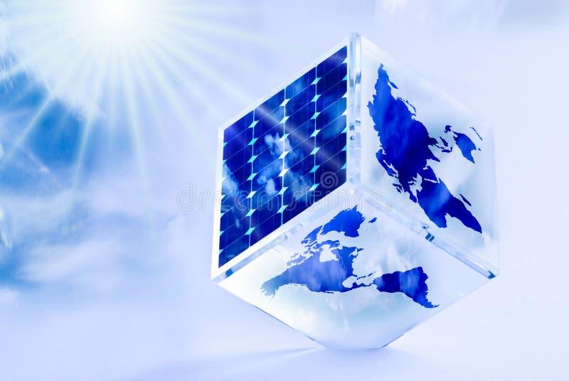 Energ?a renovable y desarrollo sostenible ilustración del vector