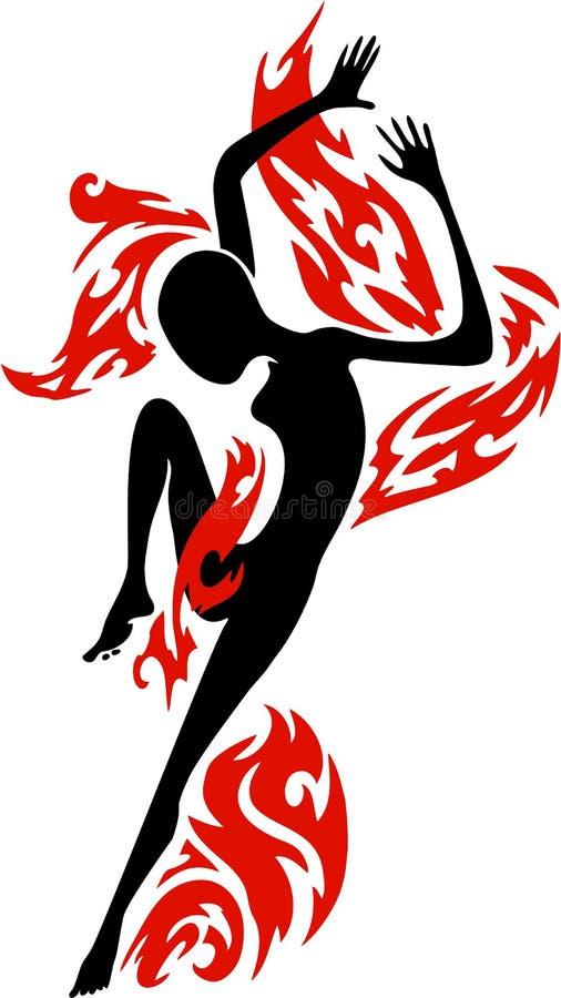 Energetic dancing figure royalty free stock image