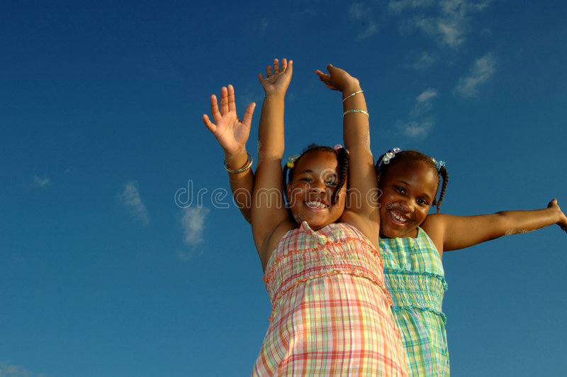 Energetic girls royalty free stock photos