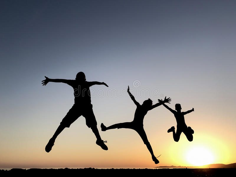 Energetic and healthy young people royalty free stock image