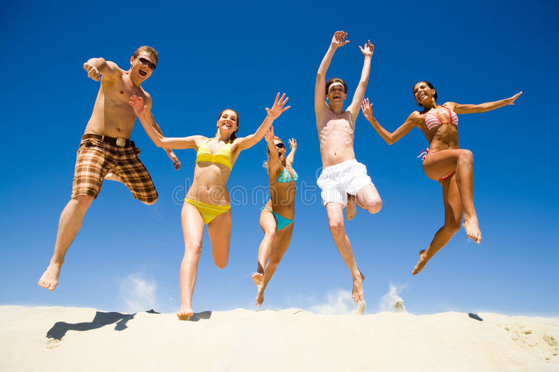 Energetic people stock images