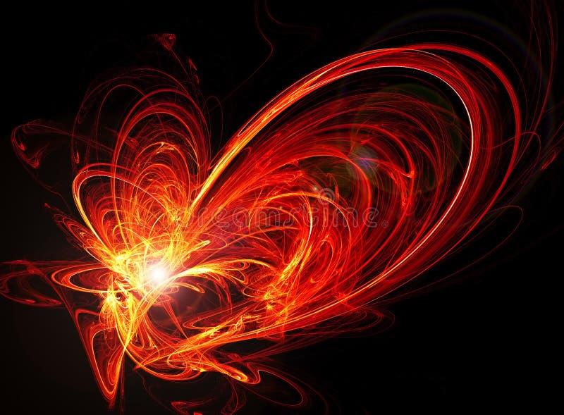 energetyczna abstrakcyjna czerwone. royalty ilustracja