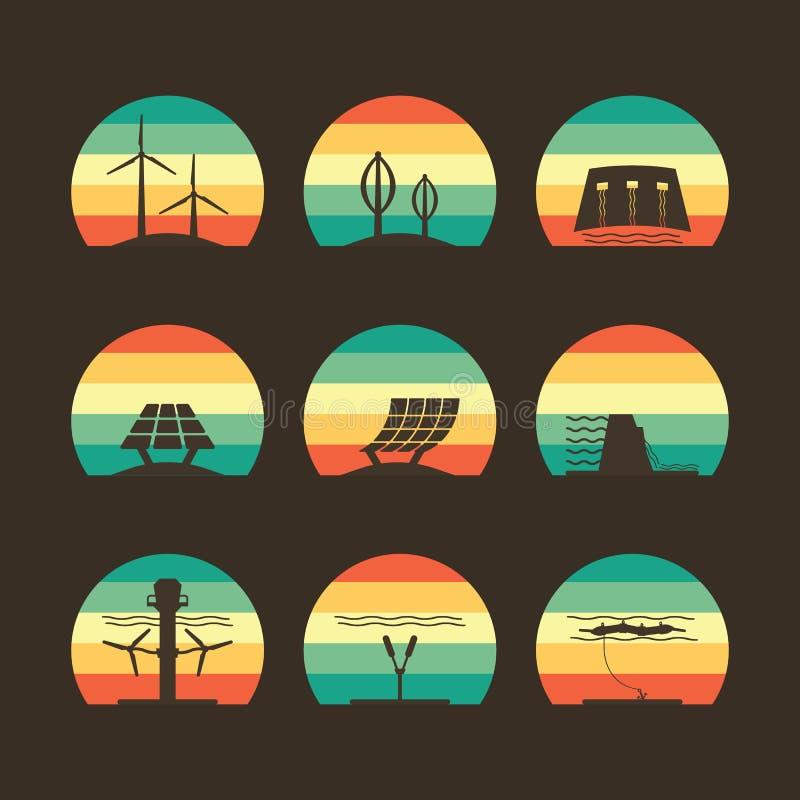 Energetyczna ikona ilustracja wektor