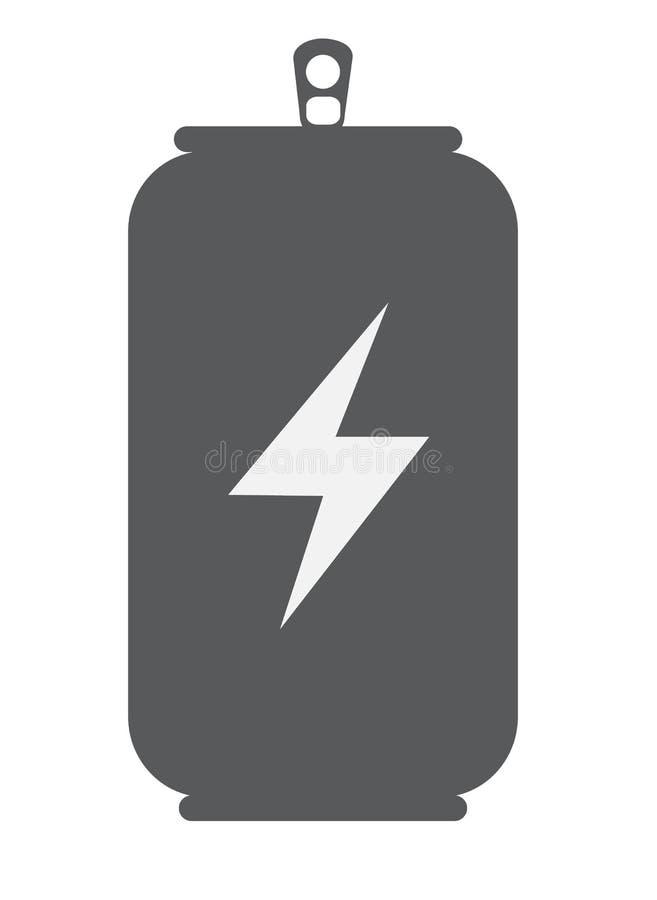 Energetyczna napój ikona z cieniem na białym tle Mieszkanie styl ilustracja wektor