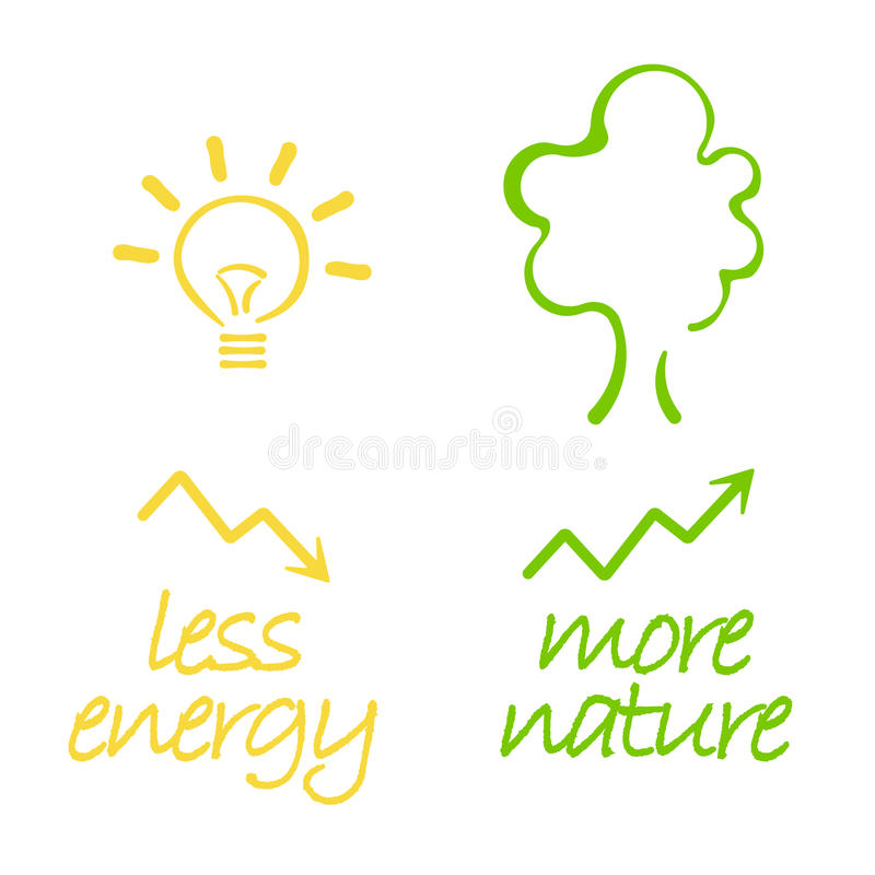 energetyczna natura royalty ilustracja