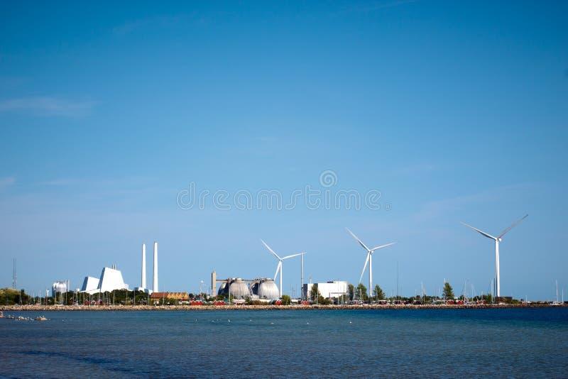 Energetyczna roślina blisko Kopenhaga obrazy stock