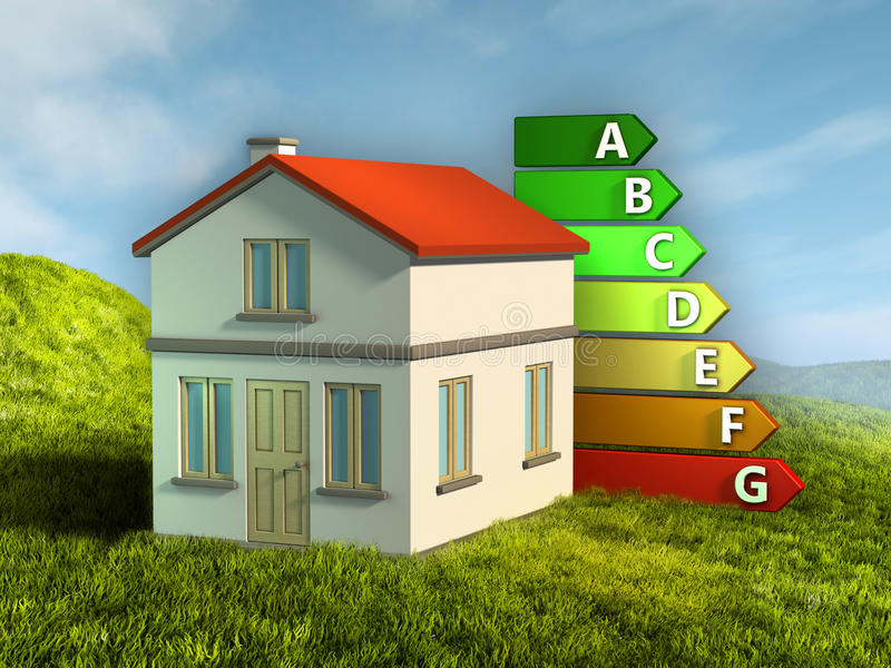 Energetyczne oceny royalty ilustracja