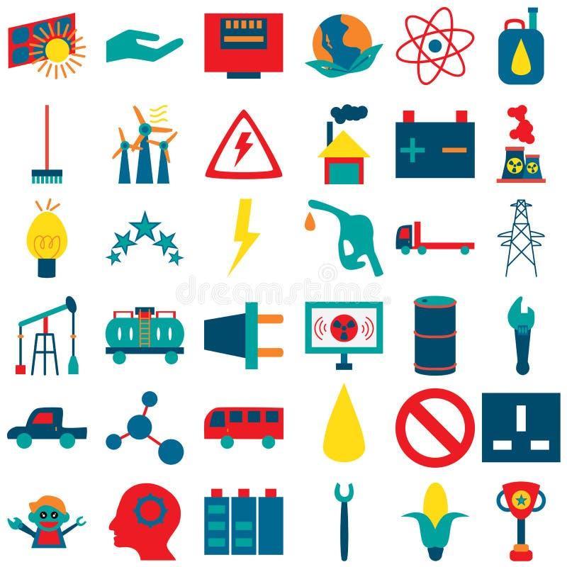 Energetyczne pomysł ikony 1 royalty ilustracja