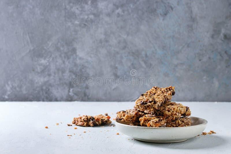 Energetyczni granola bary zdjęcie royalty free
