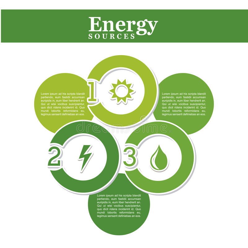 Energetyczny źródło ilustracja wektor