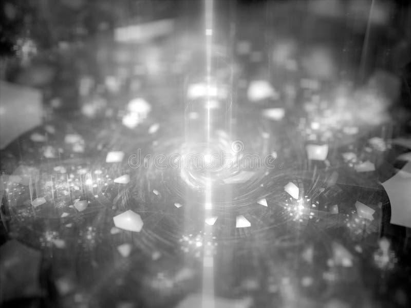 Energetyczny źródło z magiczną cząsteczki teksturą ilustracji