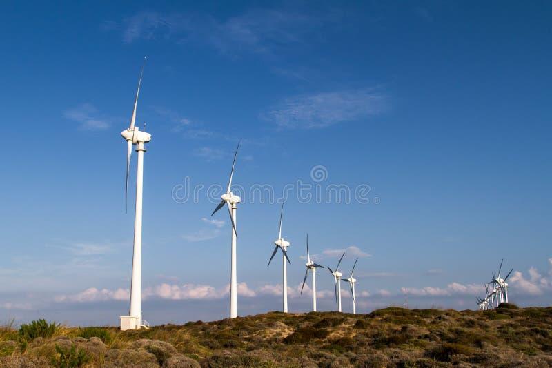 energetyczny Fuerteventura odnawialny Spain turbina wiatr zdjęcia stock