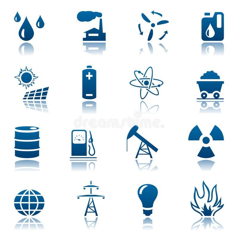 energetyczny ikony zasoby set ilustracja wektor