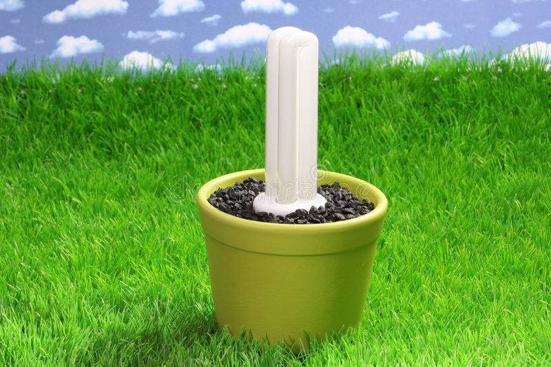 energetyczny lampowy oszczędzanie zdjęcie stock