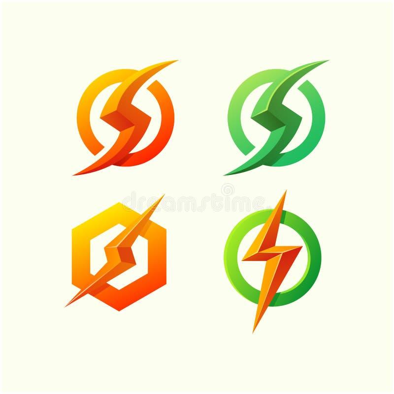 Energetyczny logo projekt gotowy używać ilustracji