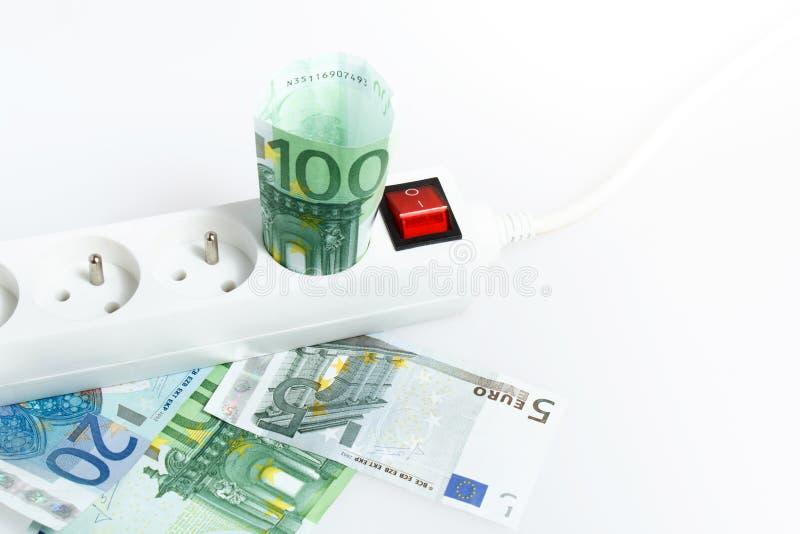 energetyczny pojęcie pieniądze save oszczędzanie obrazy royalty free