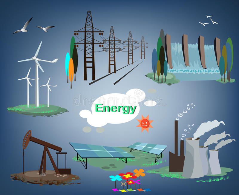 Energi stock illustrationer