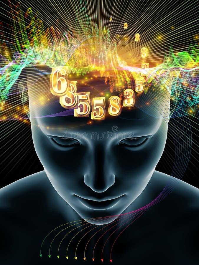 Energi av den mänskliga meningen royaltyfri illustrationer