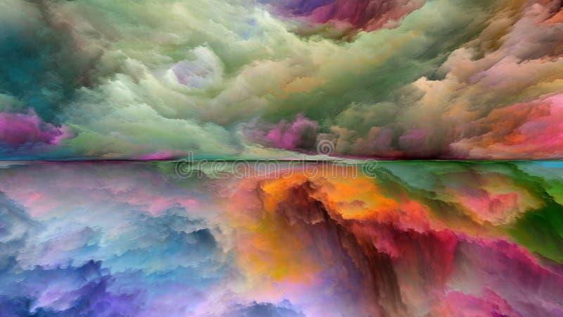 Energi av det abstrakta landskapet royaltyfri illustrationer