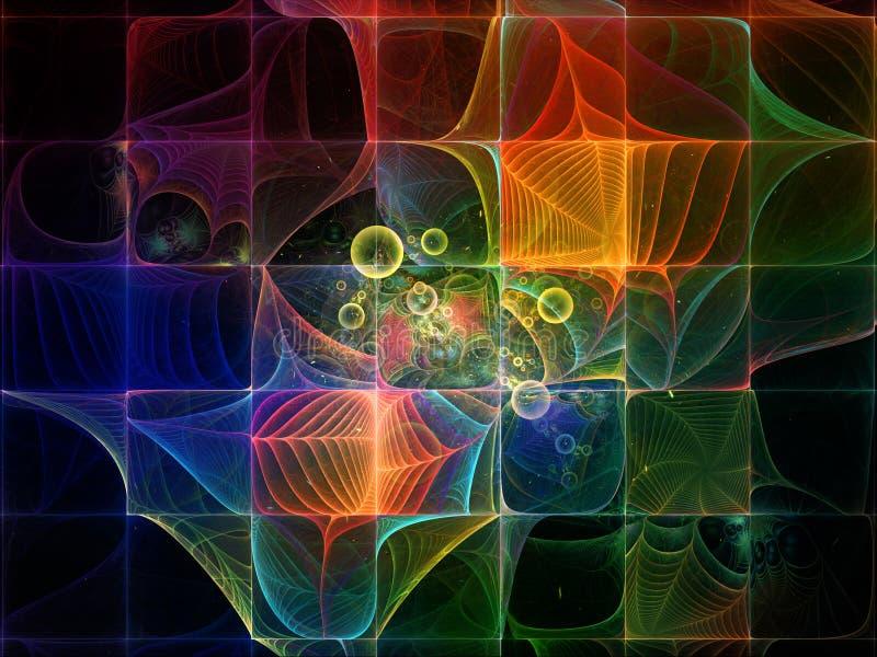 Energi av elementarpartiklar vektor illustrationer
