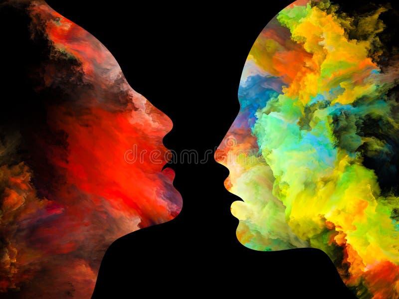 Energi av inre färger royaltyfri illustrationer