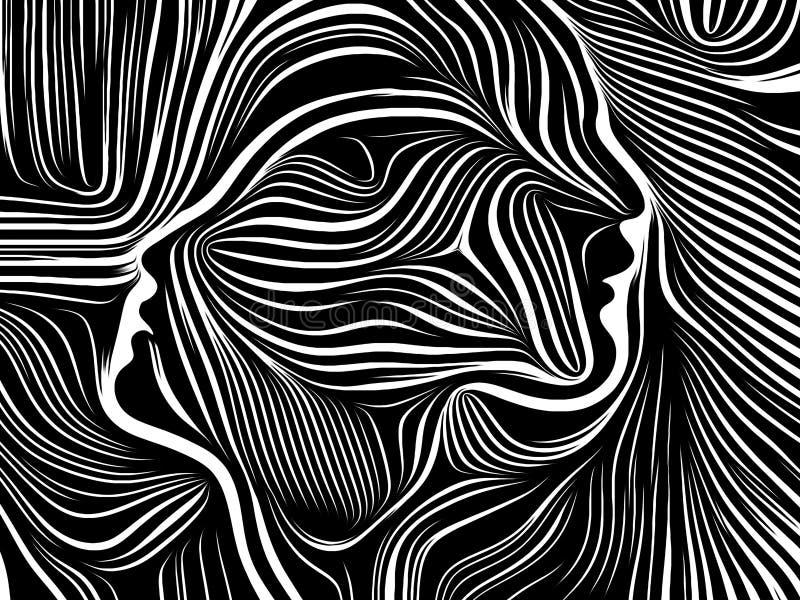Energi av inre linjer vektor illustrationer