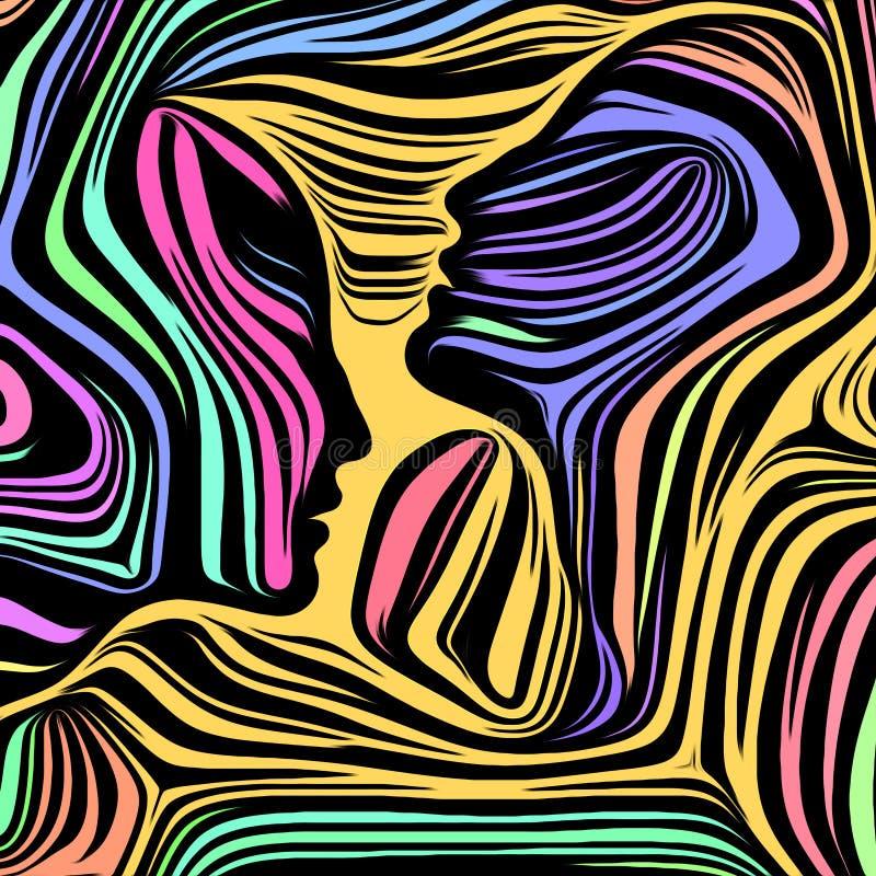 Energi av inre linjer stock illustrationer