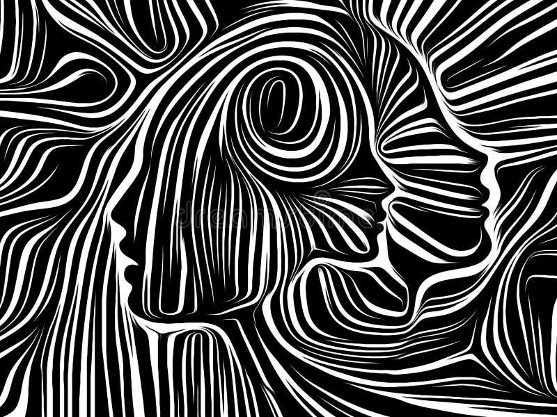 Energi av inre linjer royaltyfri illustrationer