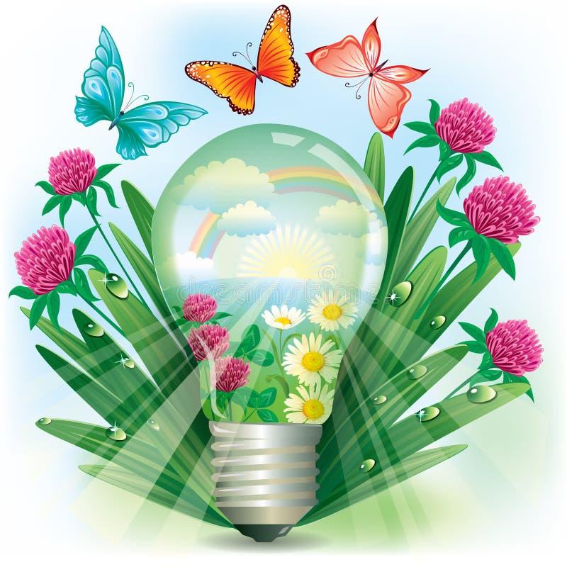 Energi av naturen stock illustrationer