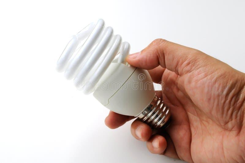 Energi - besparinglampa fotografering för bildbyråer