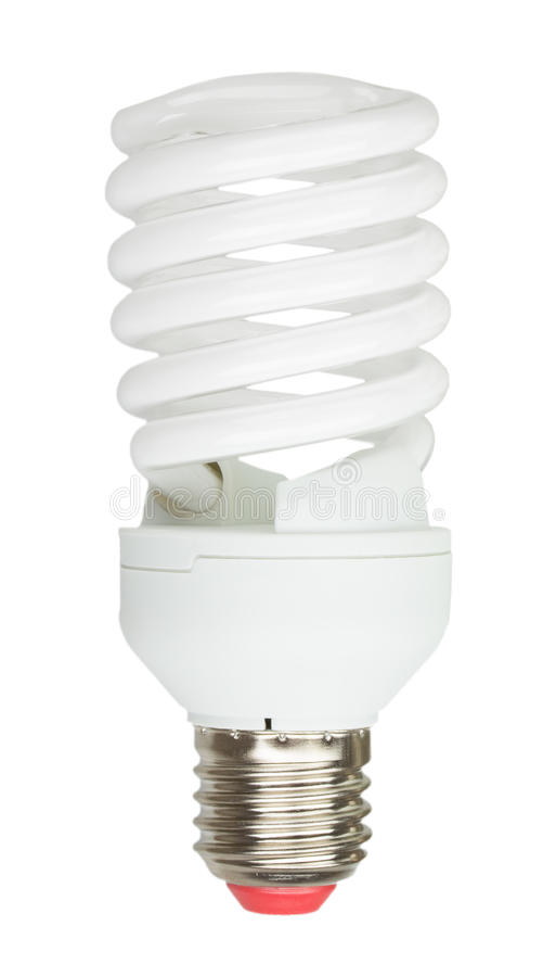 Energi - besparinglampa på vit bakgrund royaltyfri foto