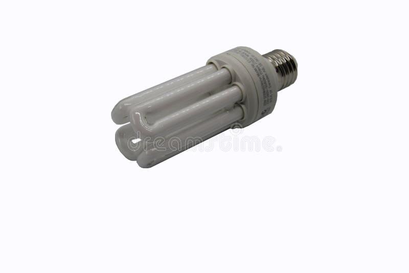 Energi - besparinglampa p? en vit bakgrund fotografering för bildbyråer
