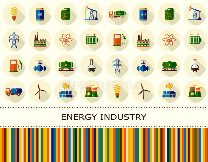Energi elektricitet, maktvektorbakgrund vektor illustrationer
