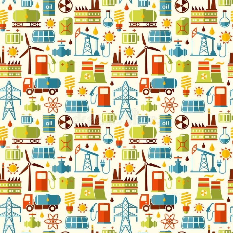 Energi elektricitet, sömlös bakgrund för maktvektor vektor illustrationer