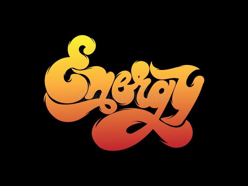 Energi Handskriven bokstäver för vektor som göras i stil för 90 ` s vektor illustrationer