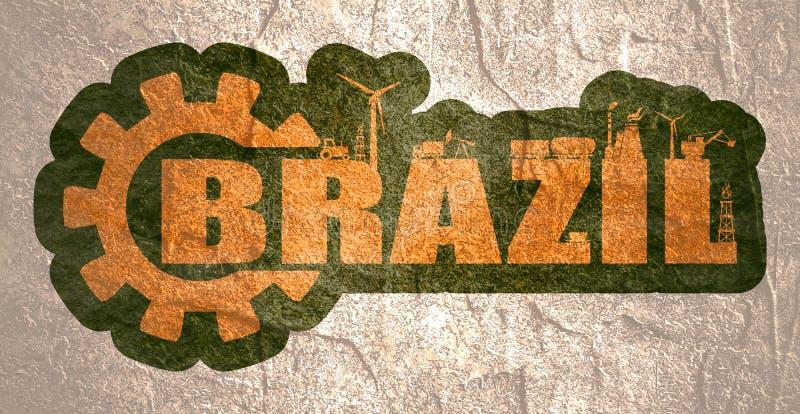 Energi- och str?msymboler Brasilien ord royaltyfria bilder