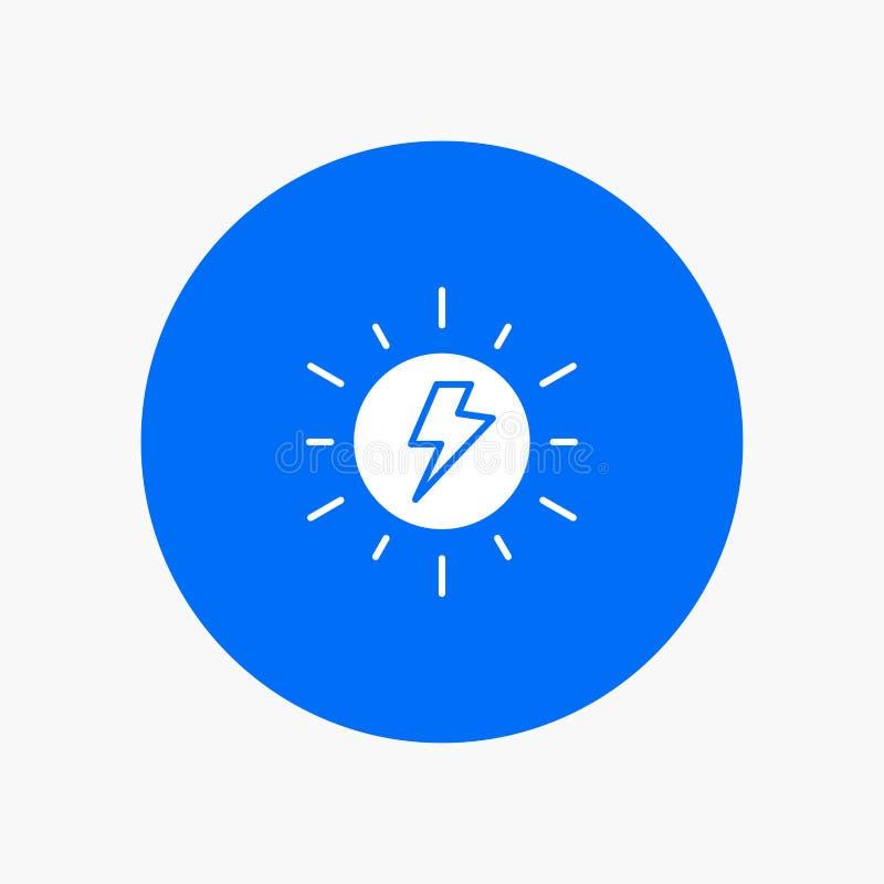 Energi som är sol-, sol, laddning stock illustrationer